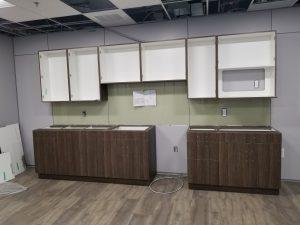 20190107 080239 300x225 - Kitchen millwork being installed